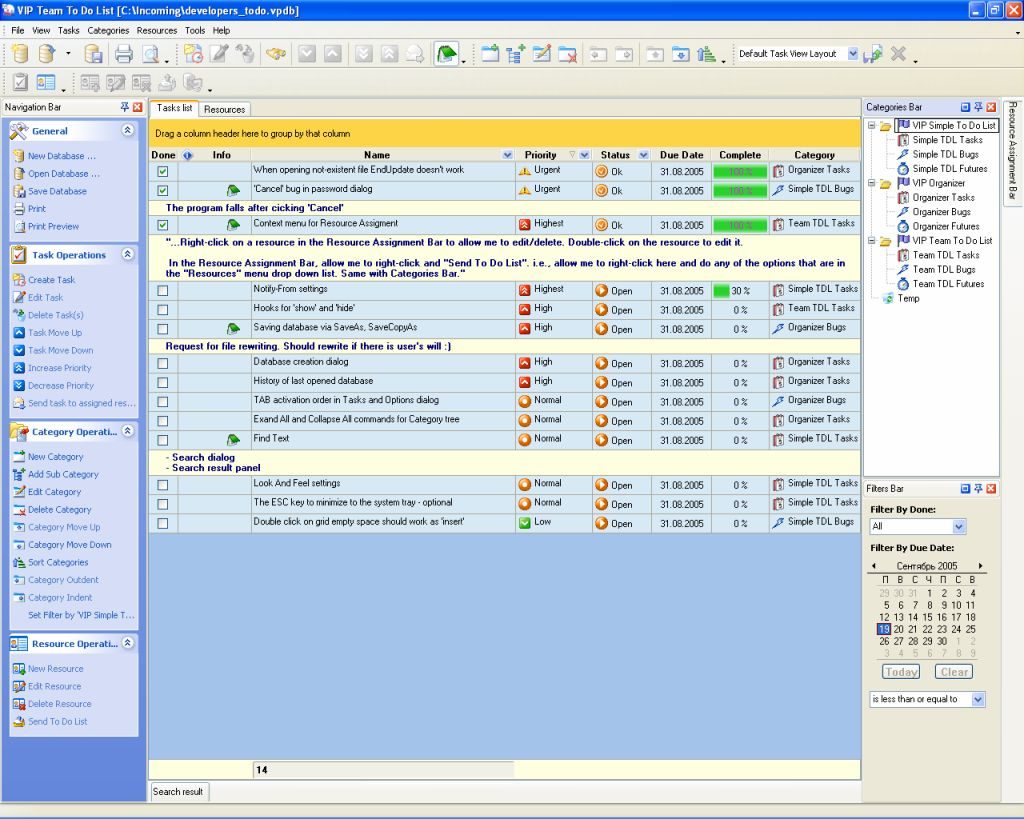 Bug Tracking - To Do List, Organizer, Checklist, PIM, Time and ...