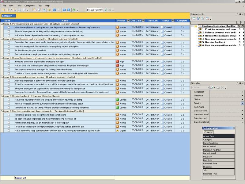 Employee Motivation Checklist To Do List Organizer Checklist – Employee Task List