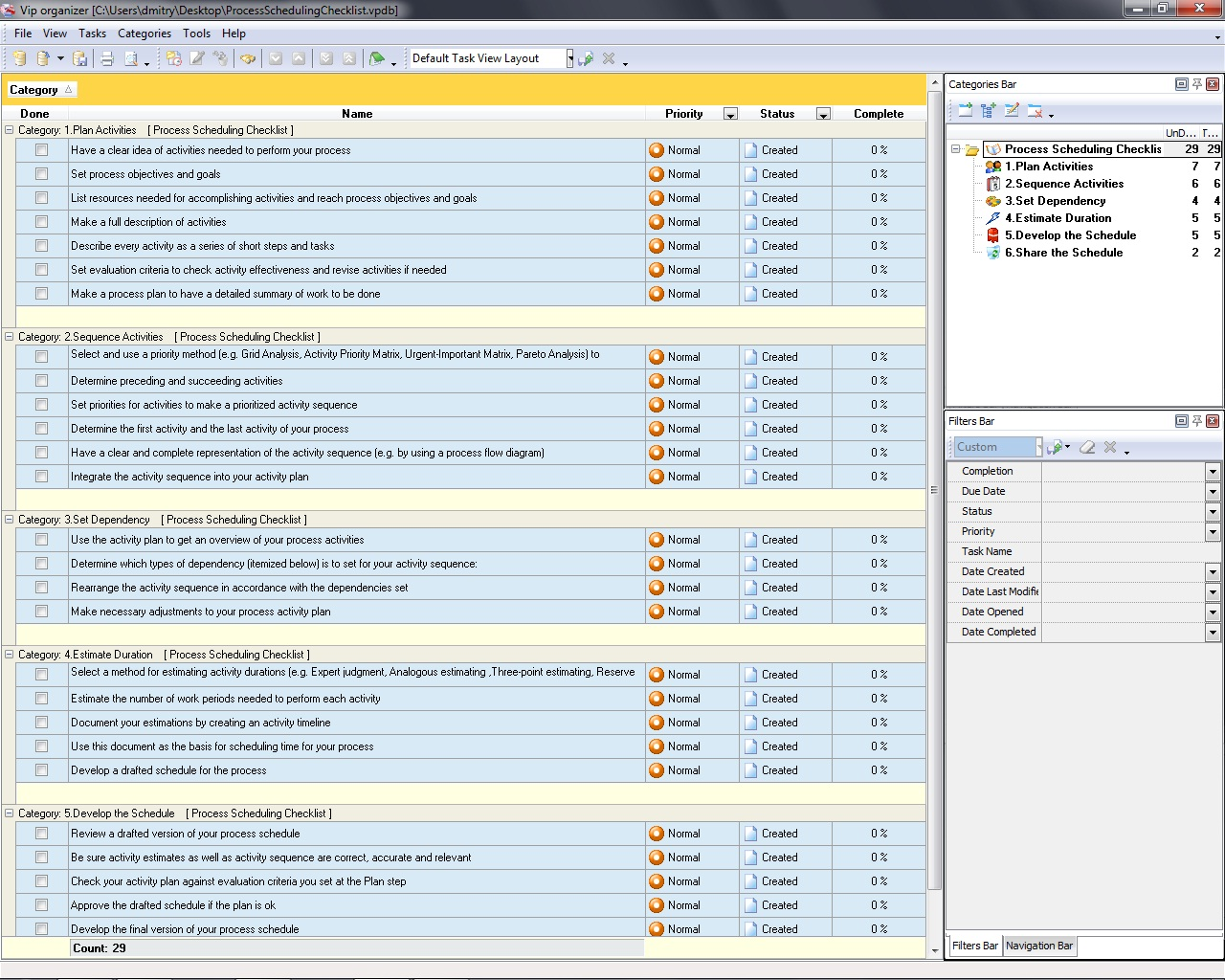 Process Management Checklists To Do Lists For Preventing
