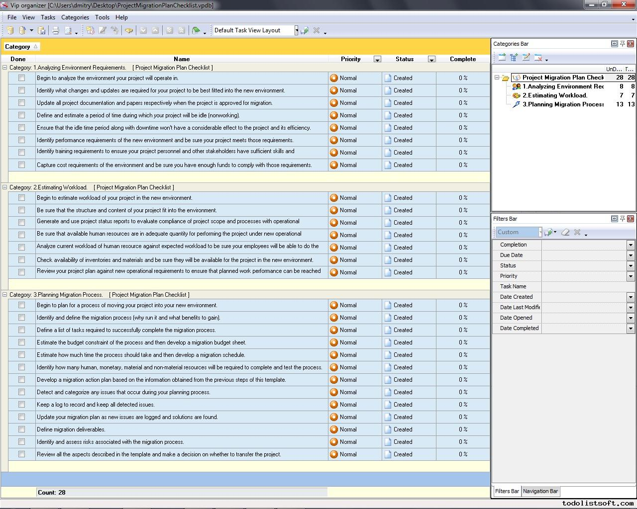 Project management templates Project plans